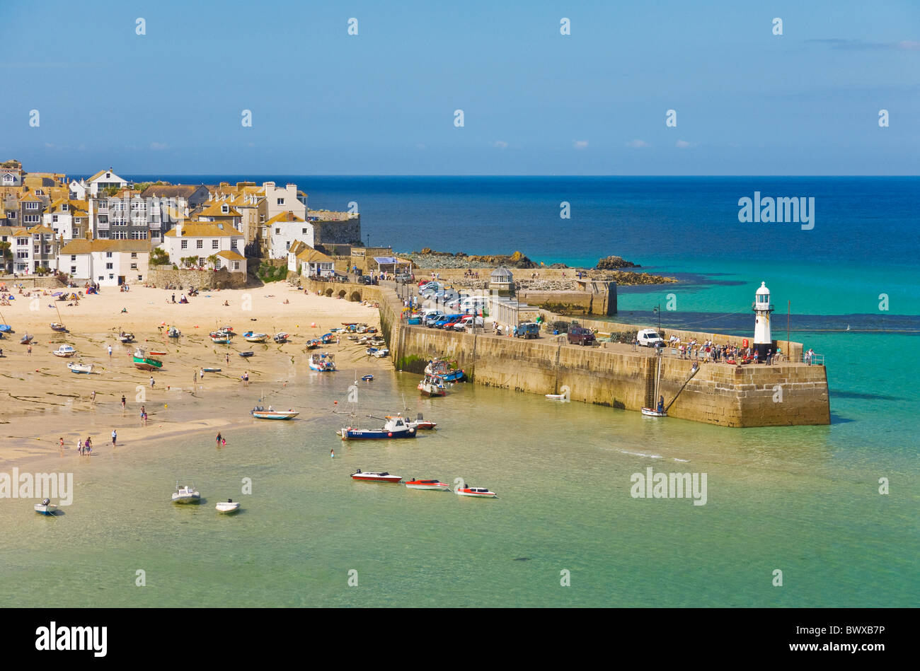 The Island or St Ives Head St Ives Cornwall England GB UK EU Europe - Stock Image