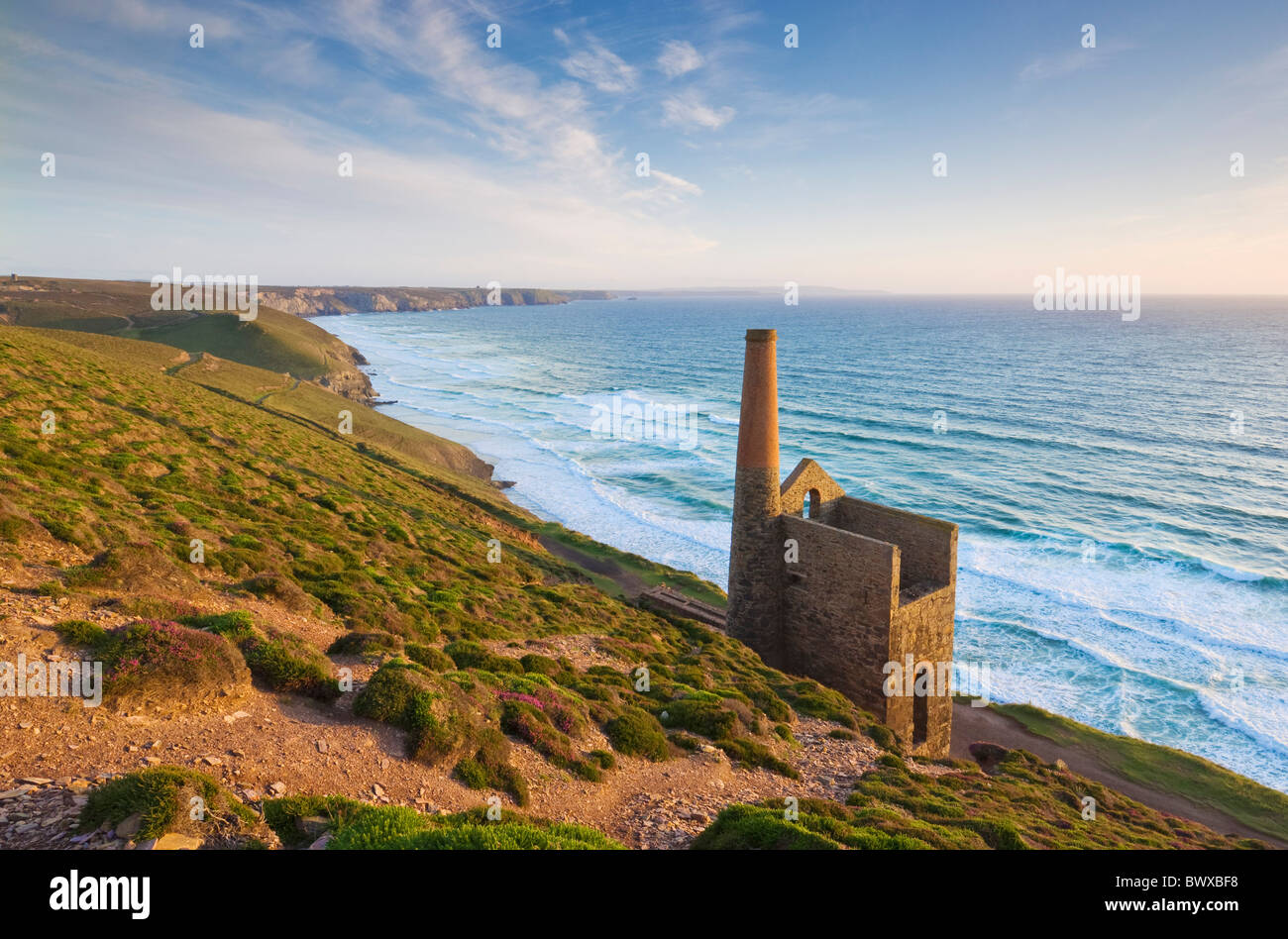 Wheal Coates tin mine near St Agnes North Cornwall coast England GB UK EU Europe - Stock Image