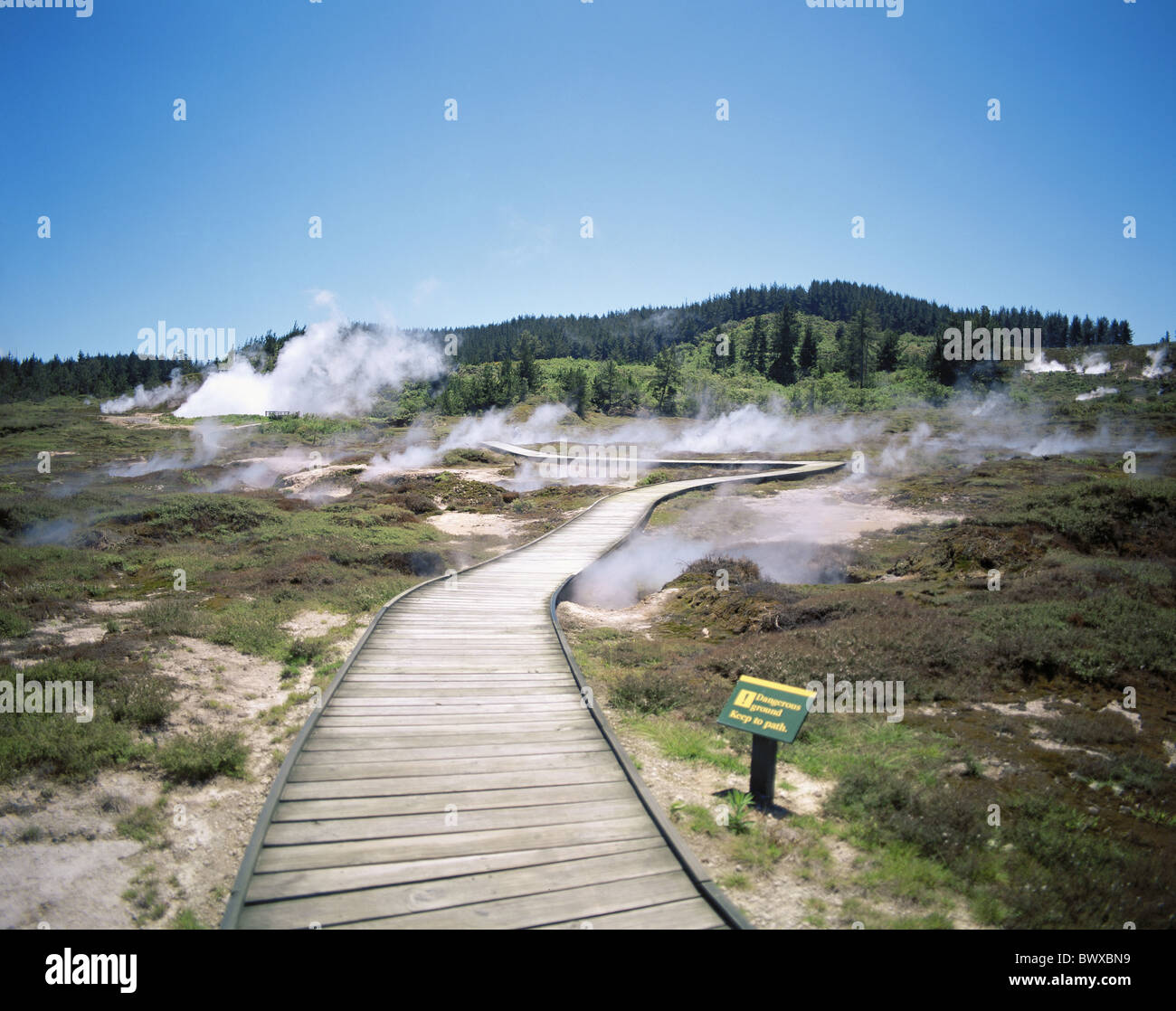 Craters Of Moon Steam Vapor Geysers Scenery New Zealand