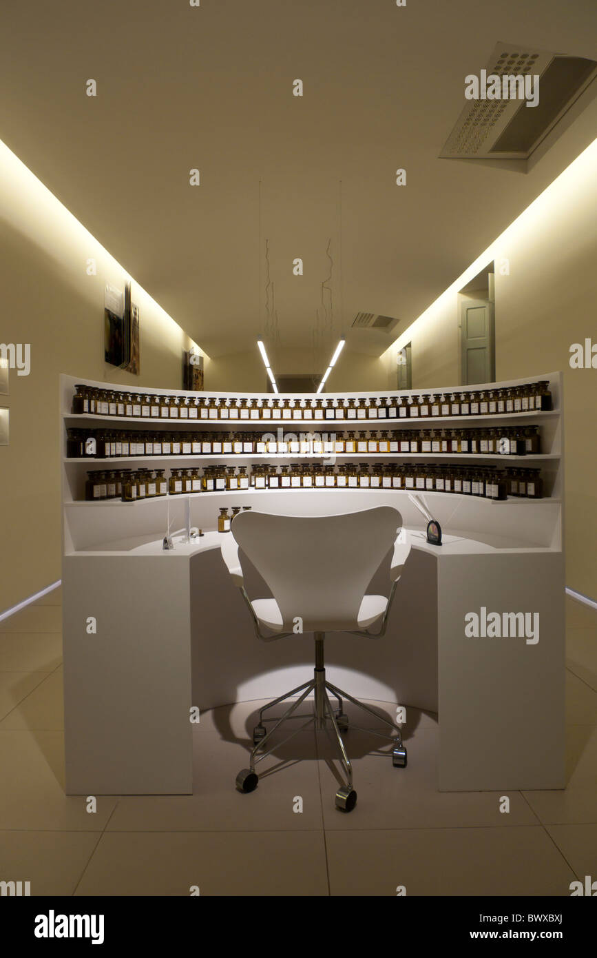 Laboratory of perfumery in Grasse, france - Stock Image