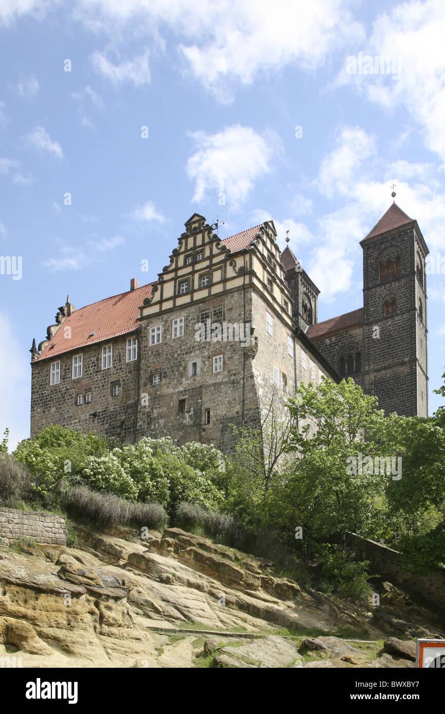 Quedlinburg Castle - Stock Image