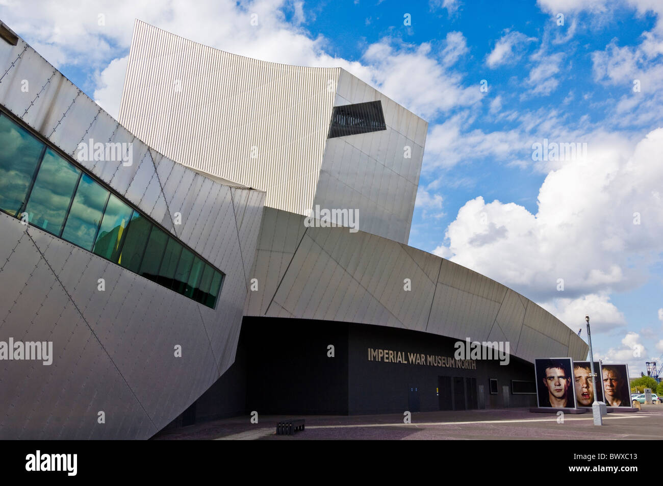 Imperial war museum north entrance salford quays manchester england GB UK EU Europe - Stock Image