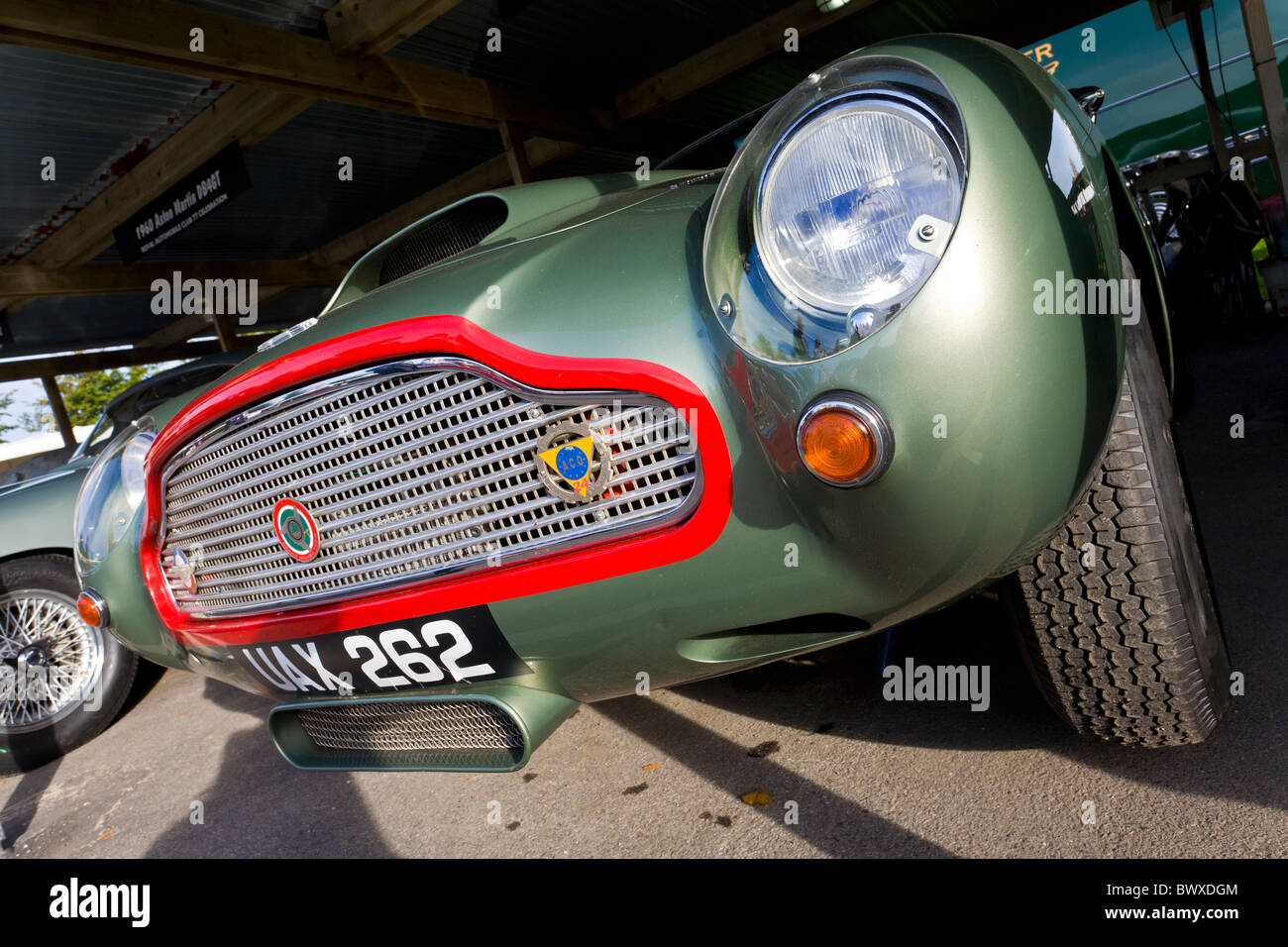 1960 Aston Martin DB4GT in the paddock at the 2010 Goodwood Revival meeting, Sussex, England, UK. - Stock Image