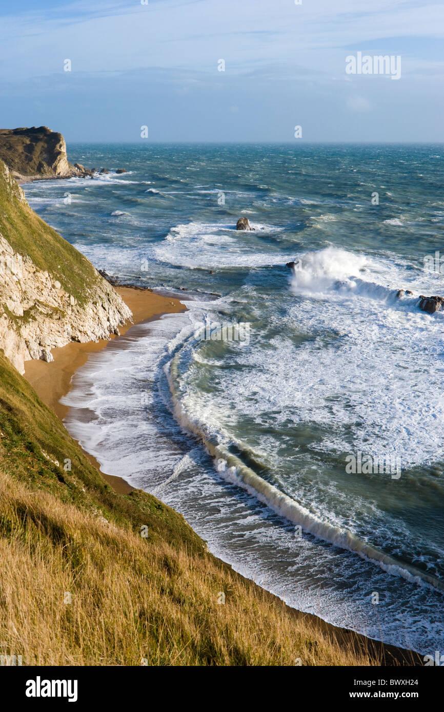 Man o' War Cove (St Oswald's Bay), Dorset, UK - Stock Image