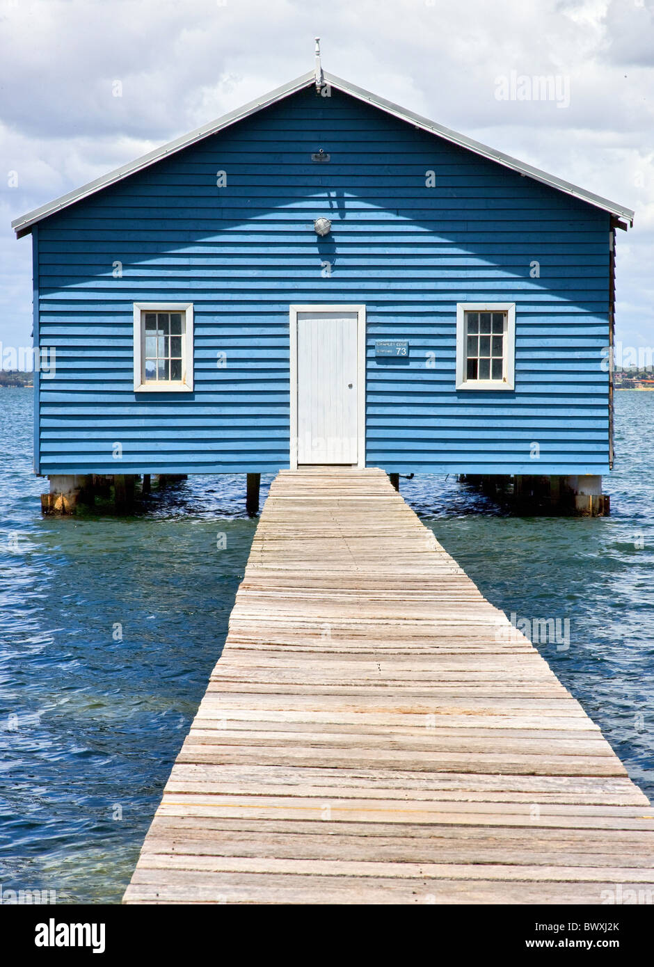 Crawley Edge Matilda Bay Boatshed on the Swan river estuary in Perth Western Australia - Stock Image
