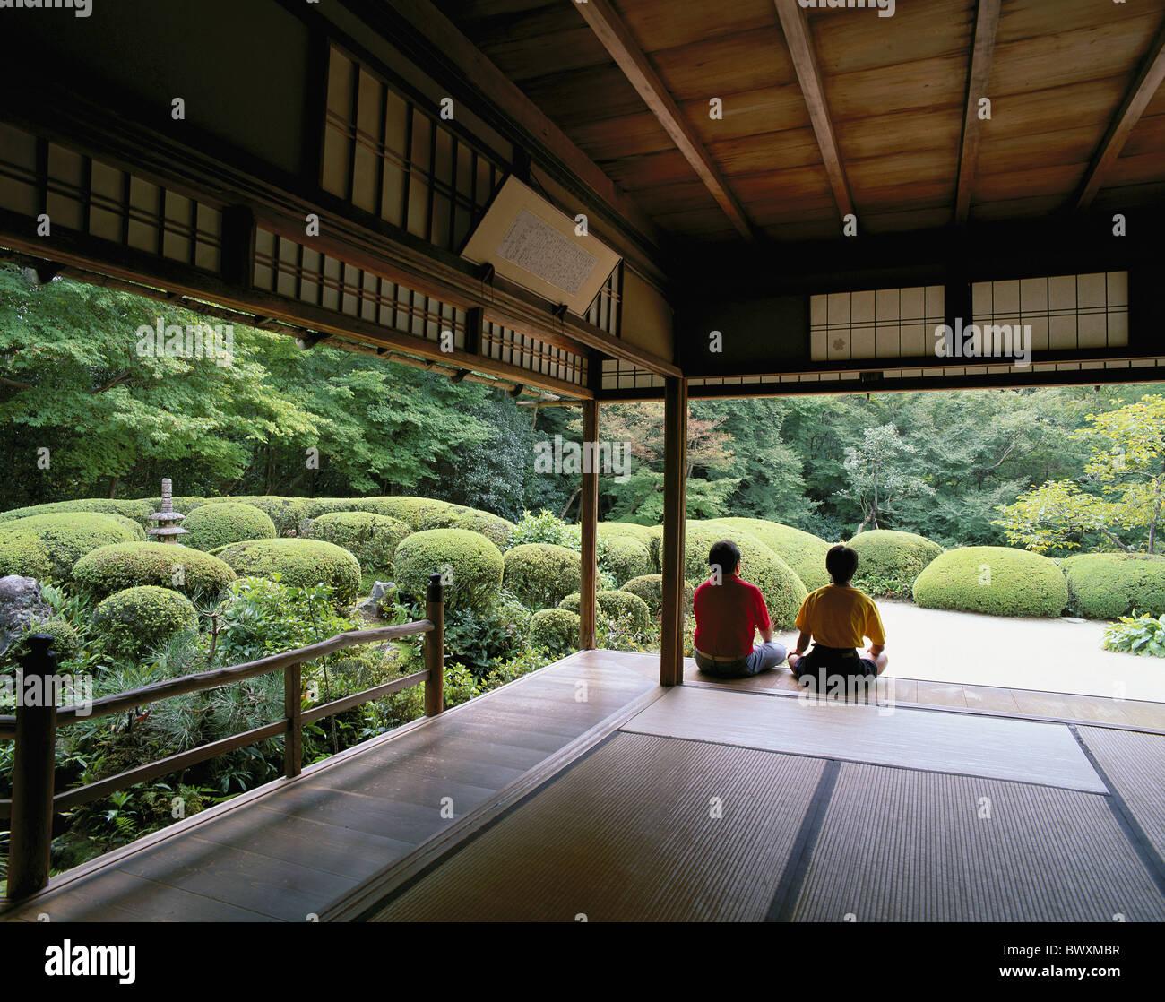 Temple Texas Traditional Home: Garden House Home Japan Asia Men Back View Shisendo Temple