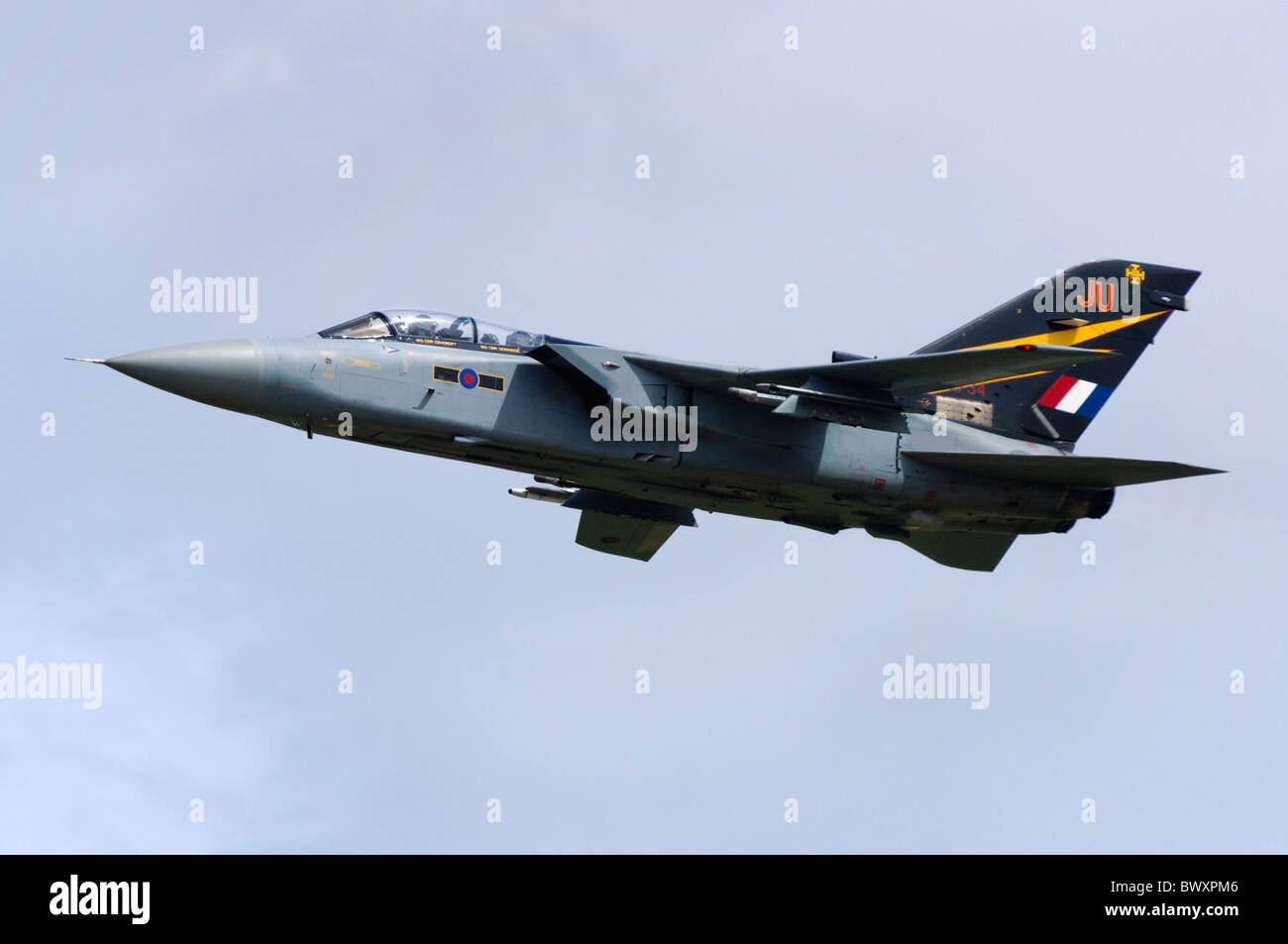 Tornado F3 jet fighter aircraft operated by the RAF departing RAF Fairford - Stock Image