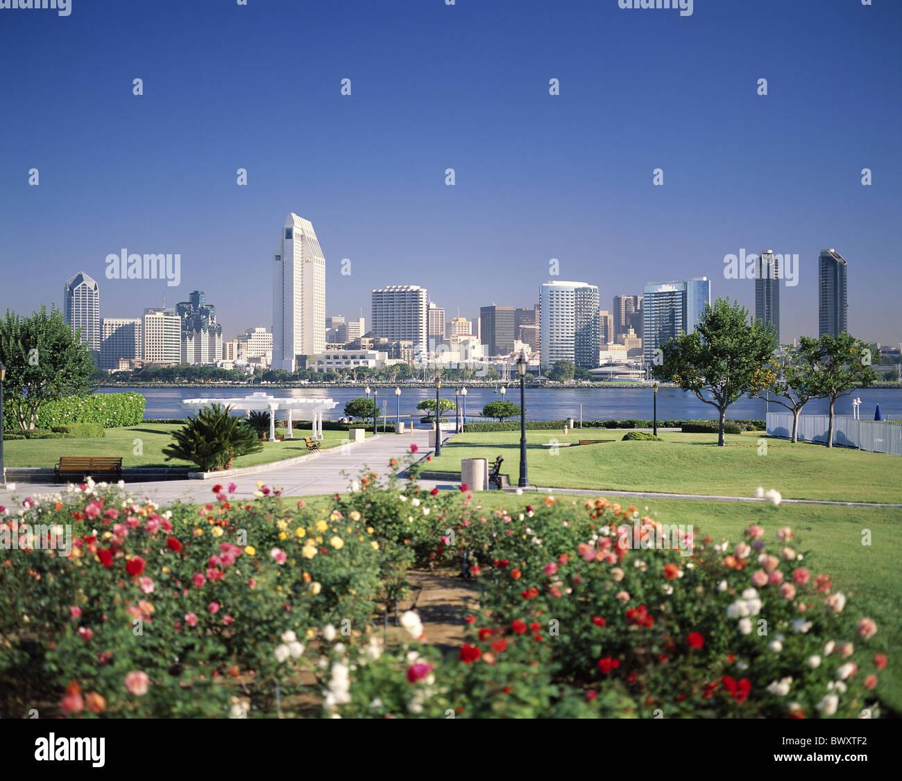 California California sea San Diego skyline USA America North America park - Stock Image