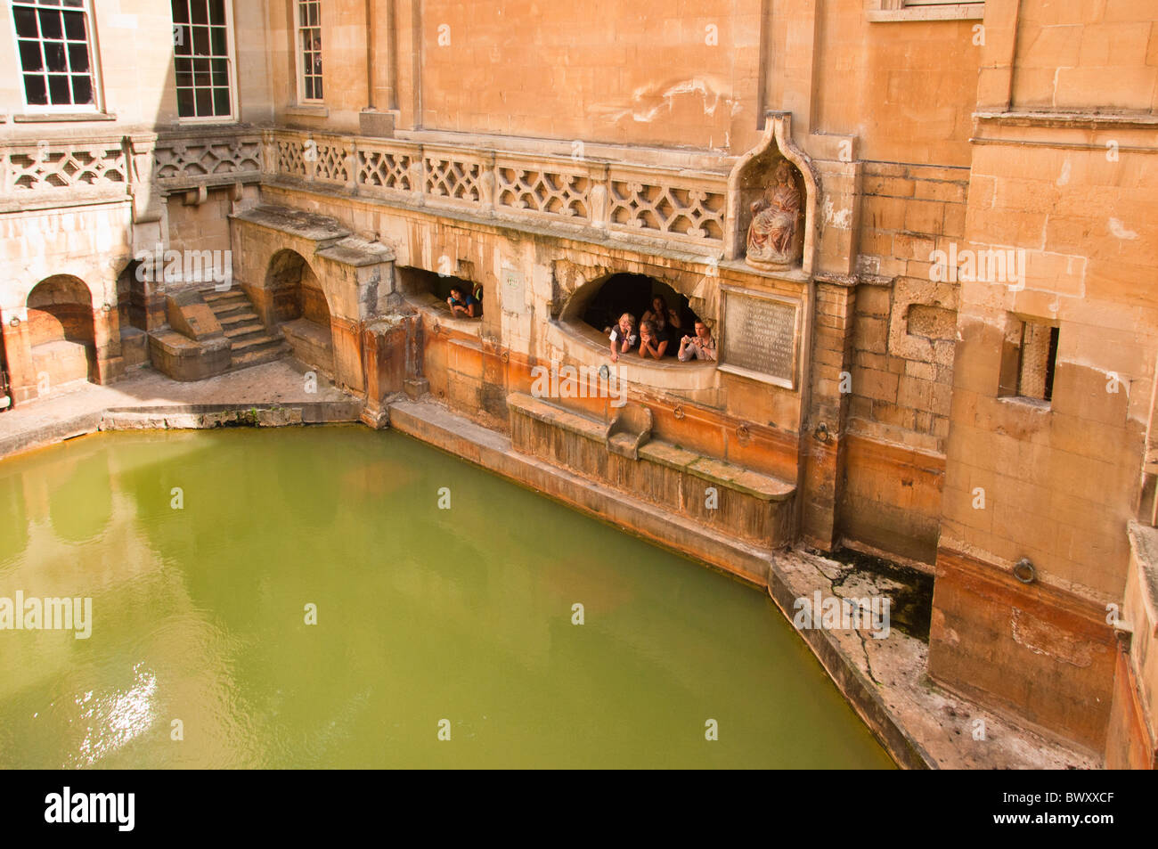 Kings Bath, Roman Baths, BATH, England UK - Stock Image