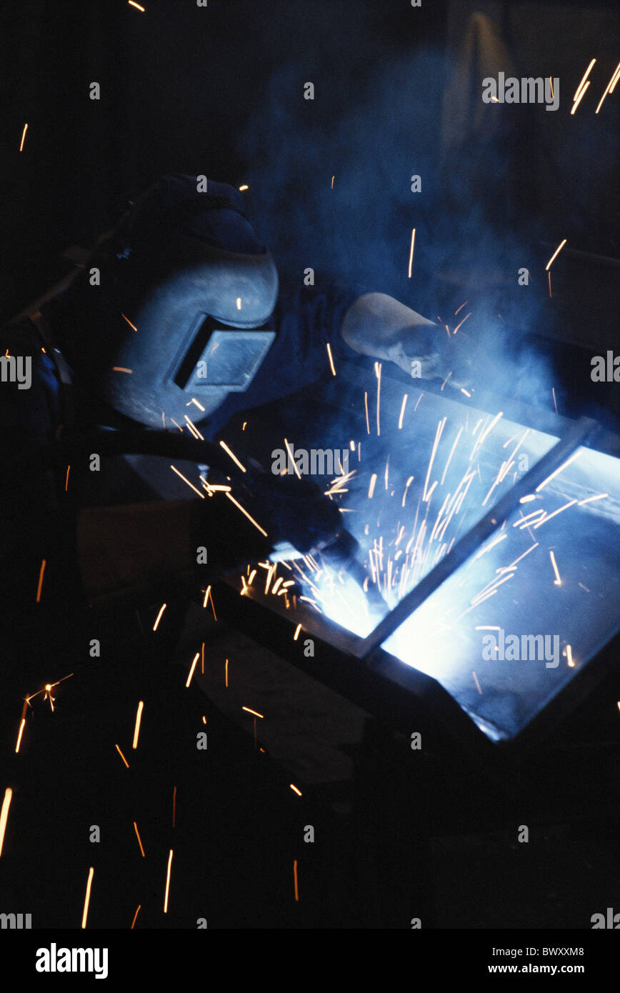 industry welding metal processing iron spark metal