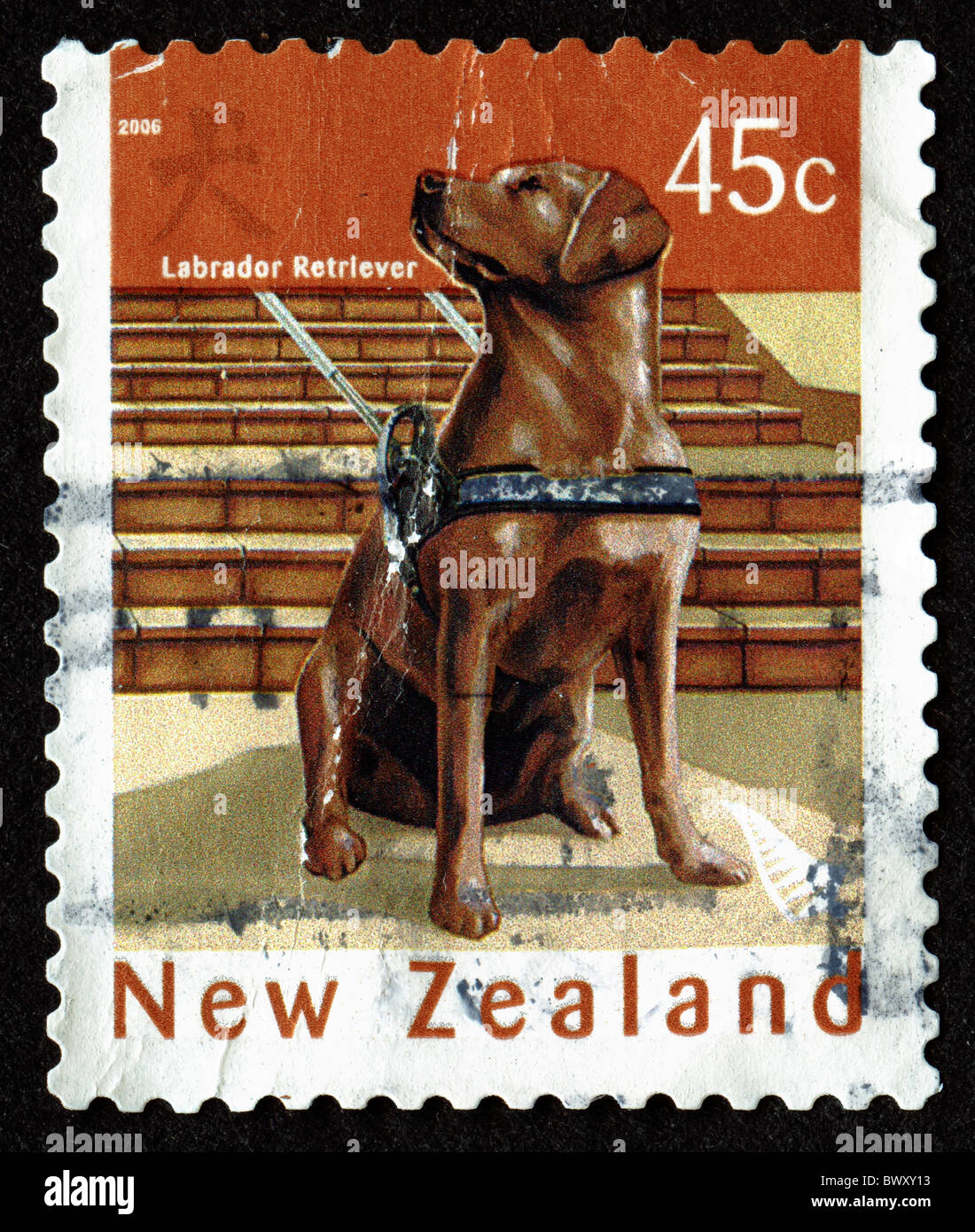 Vintage postage stamp from New Zealand - Stock Image