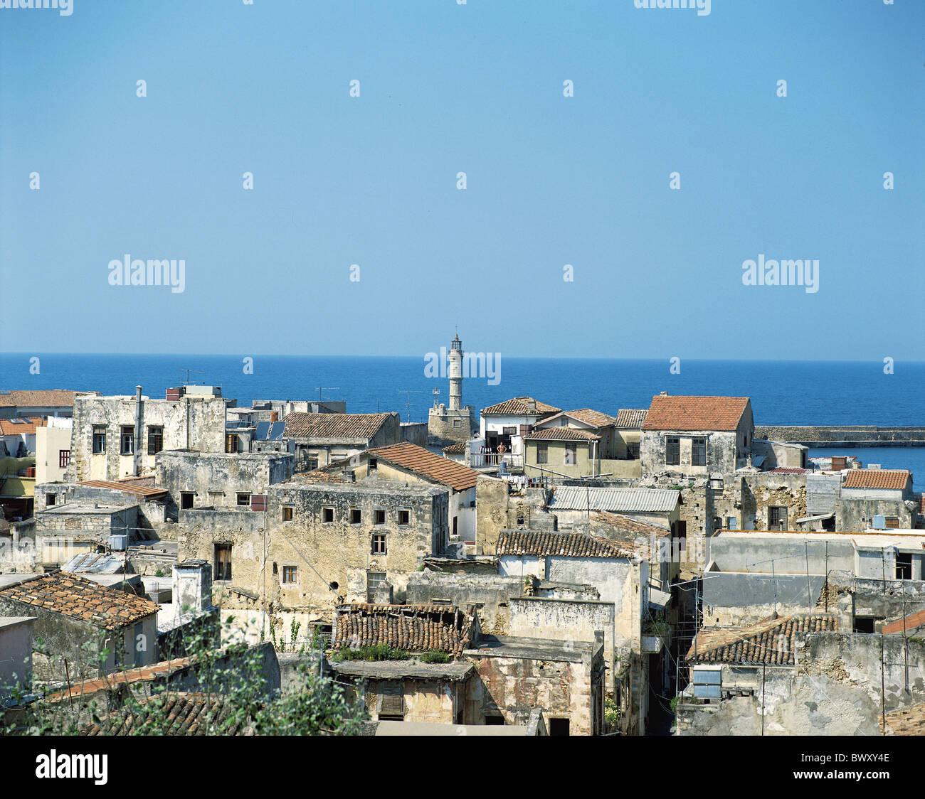 Chaina Greece Crete overview sea Stock Photo