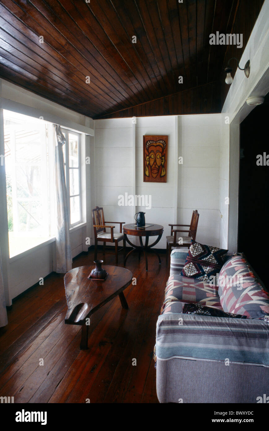 Richmond Tobago Great House Plantation House Interior Wooden Stock
