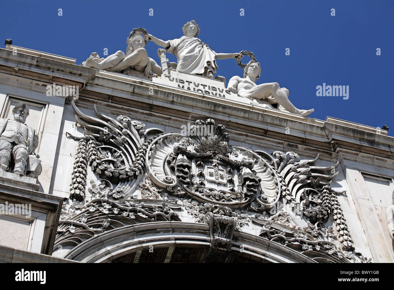 Portugal Lissabon Lisbon Lisboa Arco da Rua Augusta - Stock Image