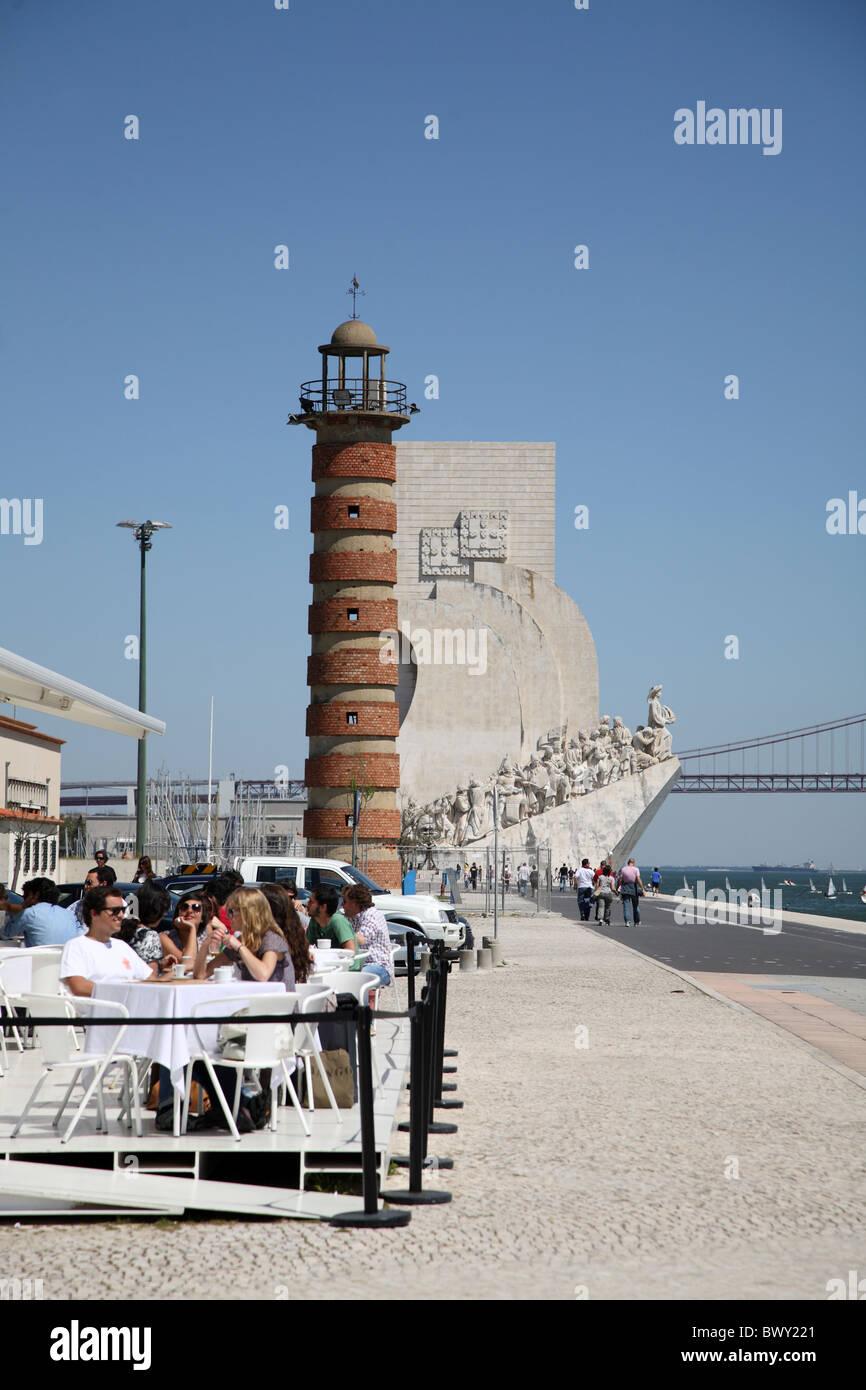 Portugal Lissabon Lisbon Belem Padrao dos Descobrimentos - Stock Image