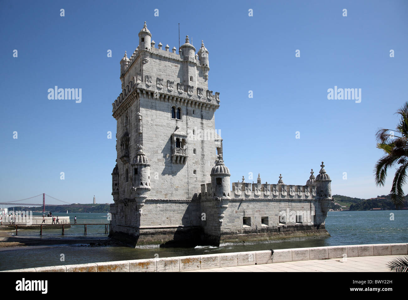 Portugal Lissabon Lisbon Belem Torre de Belem - Stock Image