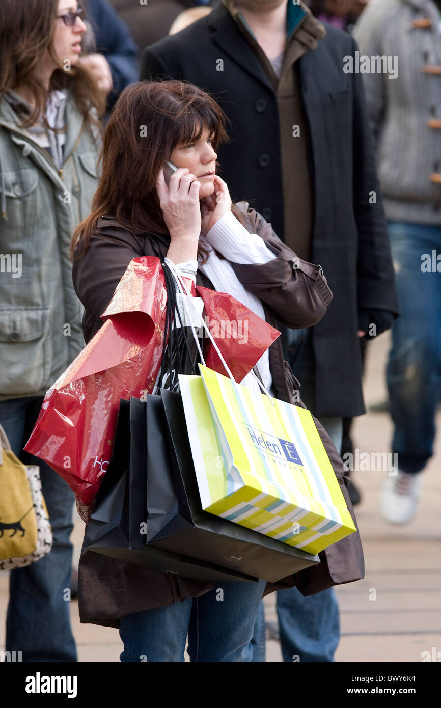 Shoppers during December sales on Oxford Street London. Photo:Jeff Gilbert Stock Photo