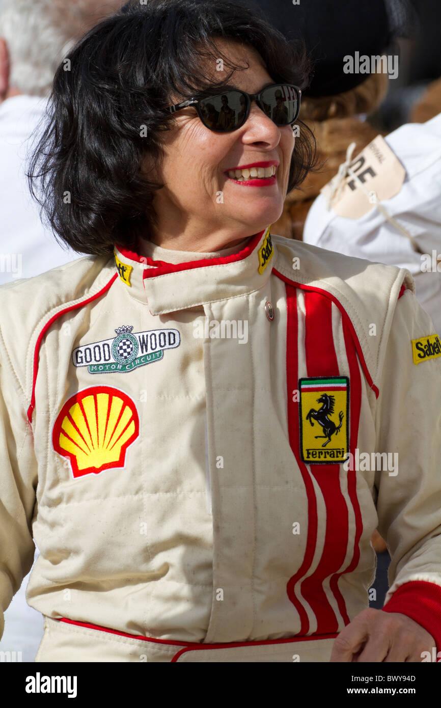 Historic race driver Julia de Baldanza  at the 2010 Goodwood Revival meeting, Sussex, England, UK. - Stock Image