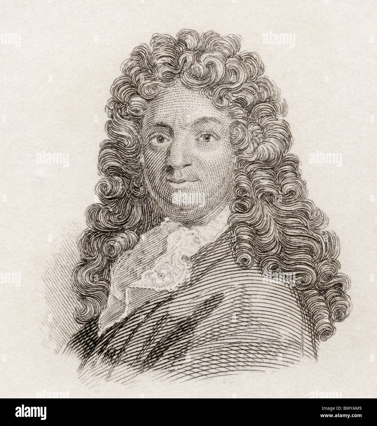 Alain-René Lesage, 1668 to 1747. French novelist and playwright. Stock Photo