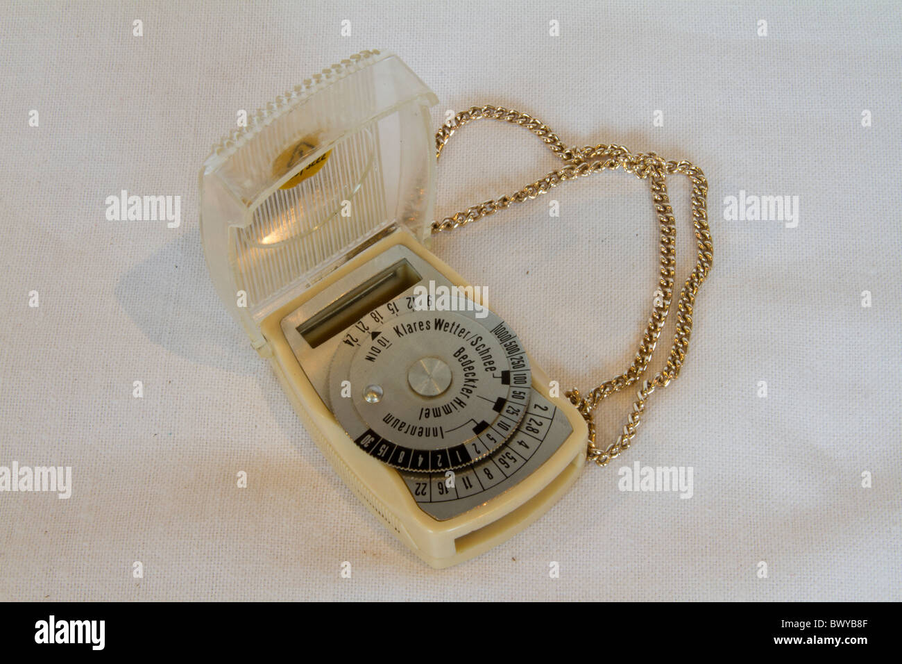 old light meter white - Stock Image