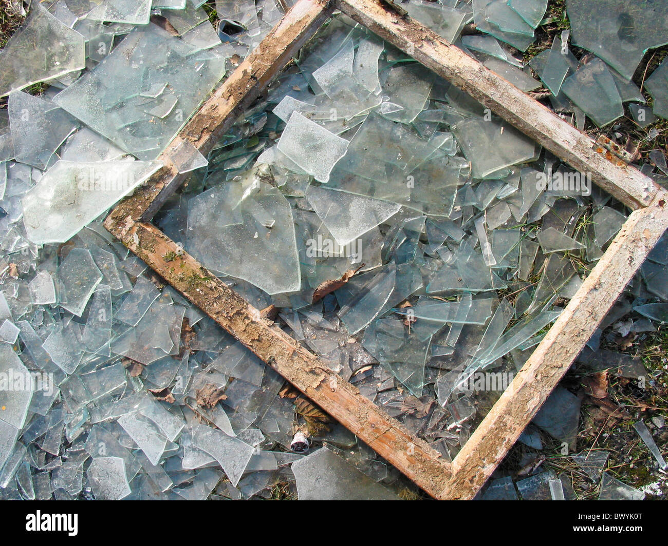 Images of a broken picture frame