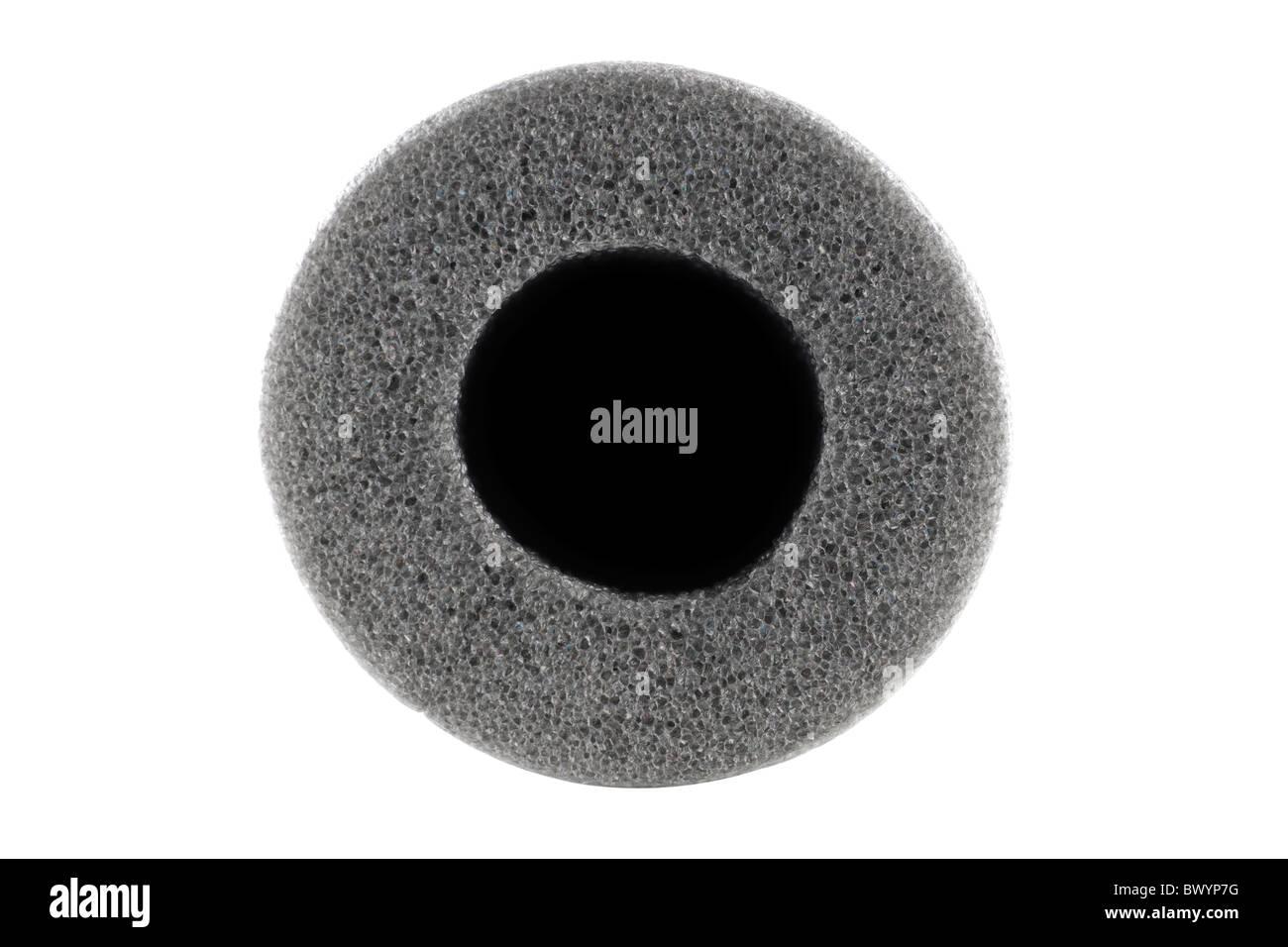 Grey polyethylene sponge foam - Stock Image