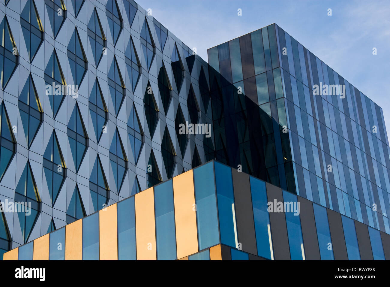 University of Salford Building , Media City, Salford Quays, Salford, Greater Manchester, England, UK - Stock Image