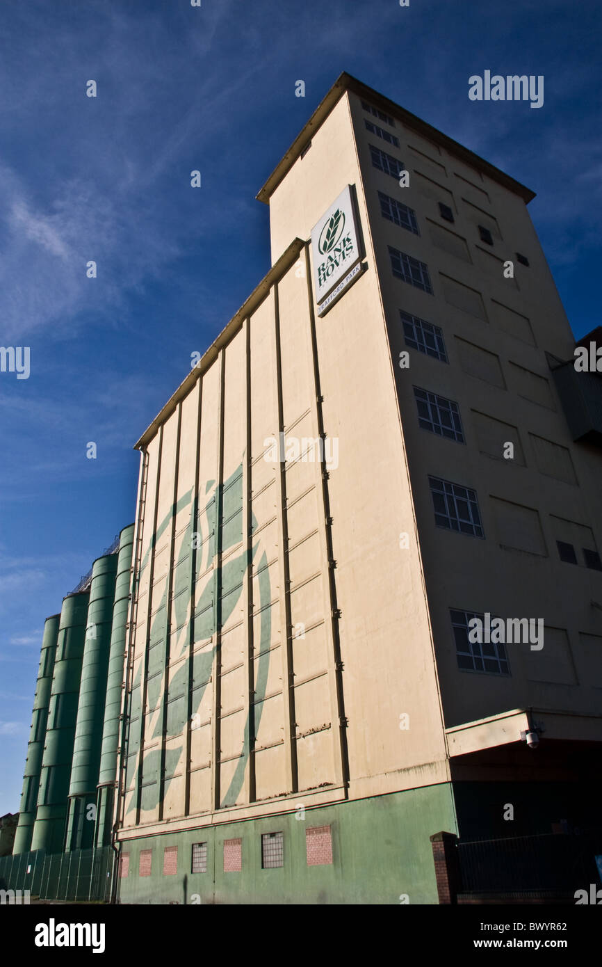 Rank Hovis Mill and Grain Silos, Trafford Park, Manchester , UK - Stock Image