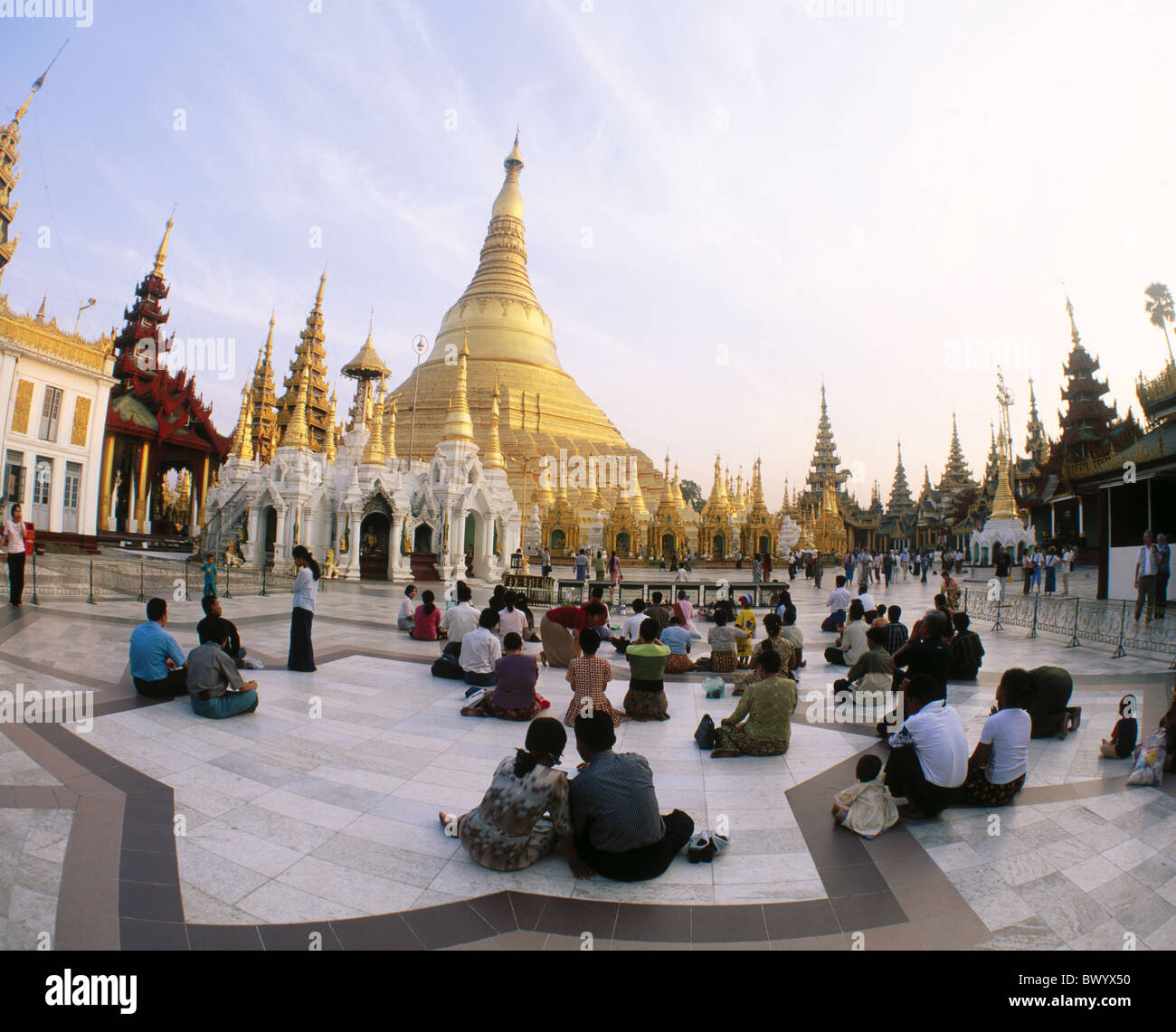 architecture Asia outside Burma Asia Buddhism believers creditors golden culture Myanmar no model release - Stock Image