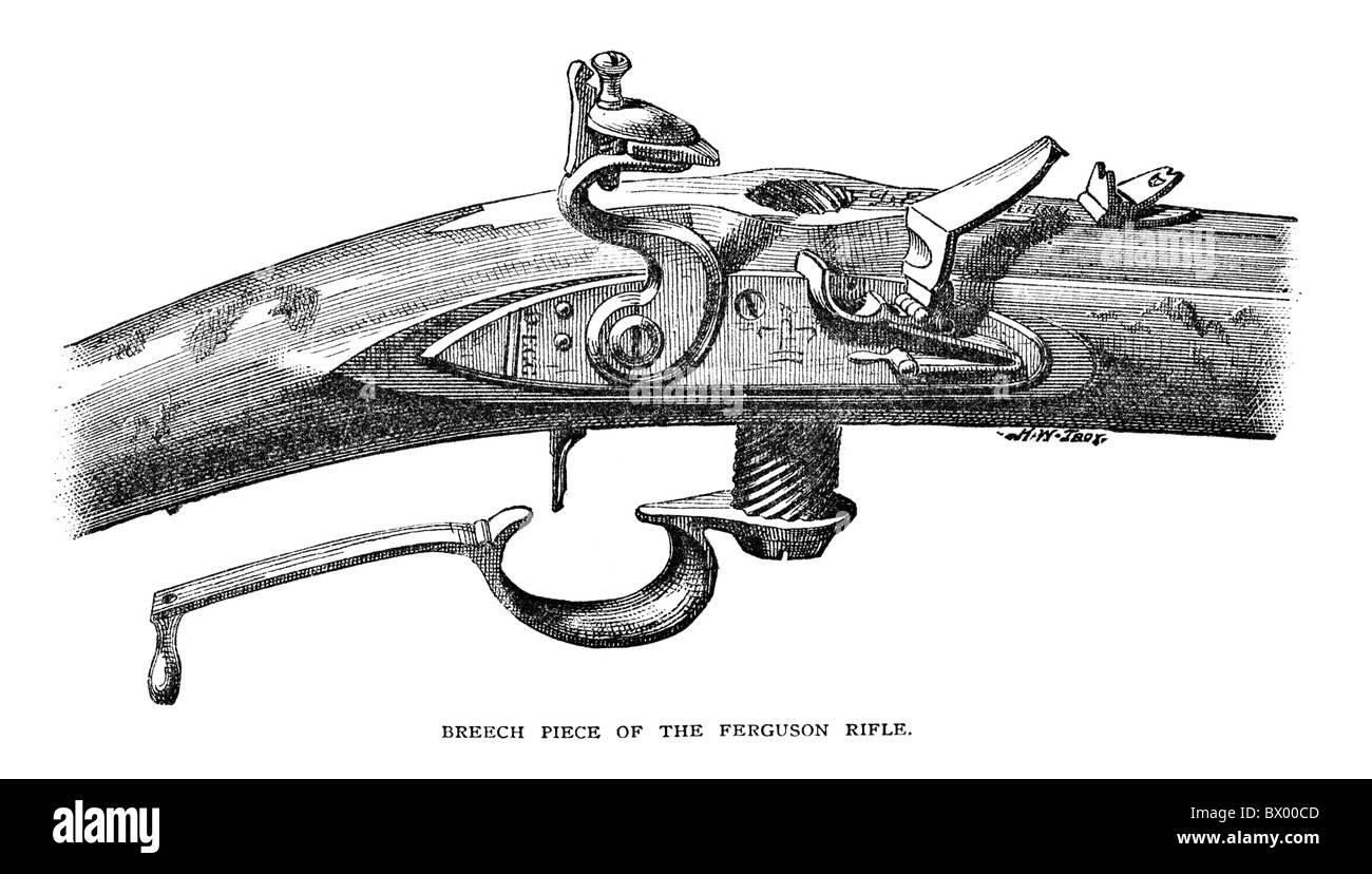 Breech piece of the Ferguson rifle  Originally published in