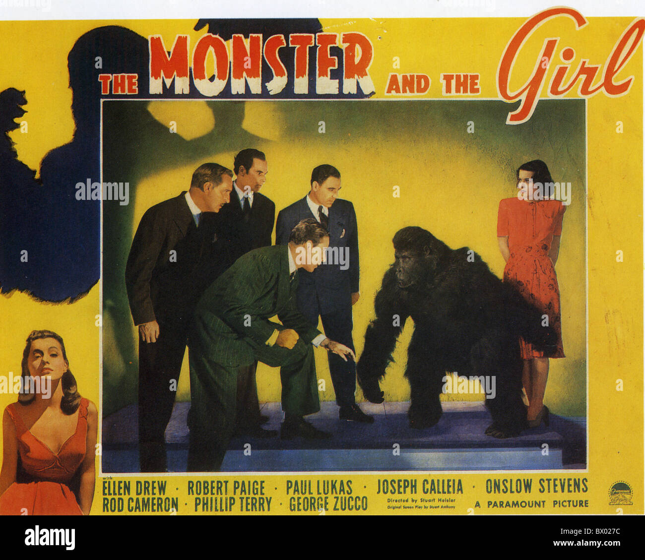 THE MONSTER AND THE GIRL Poster for 1941 Paramount film with Ellen Drew - Stock Image