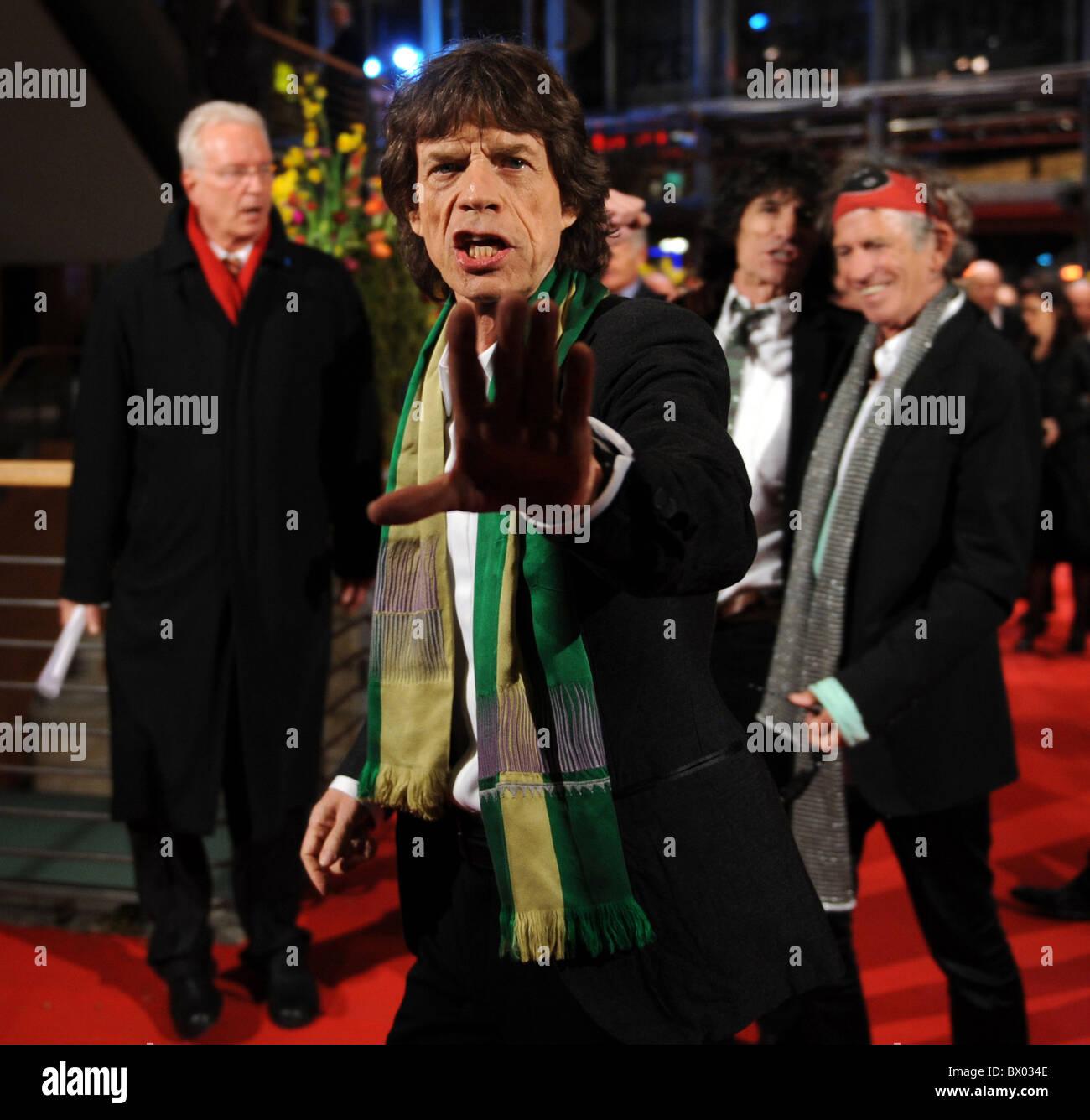Mick Jagger at Berlinale 2008, Berlin, Germany - Stock Image