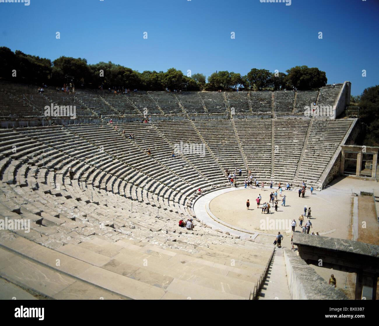 antique Ancient world antiquity Epidaurus Greece in Greek Greek theater historical Peleponnes Switzerland - Stock Image