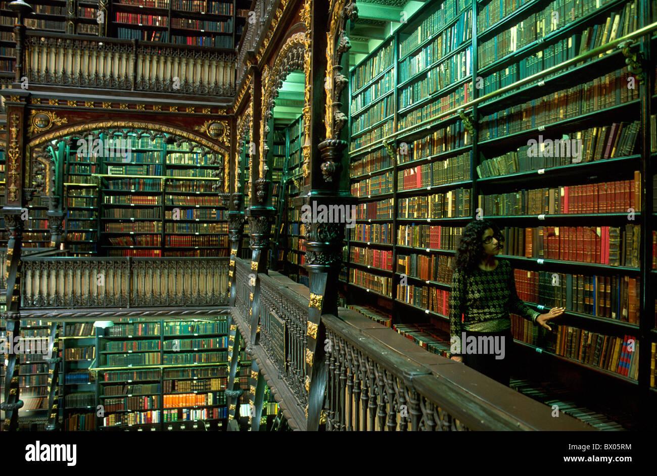 books brazil south america inside library literature no model release stock photo  33196008