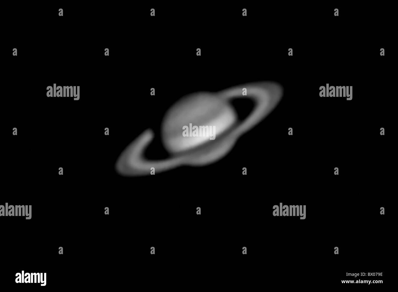 All astronomy planet planet saturn black and white universe macrocosm stock image