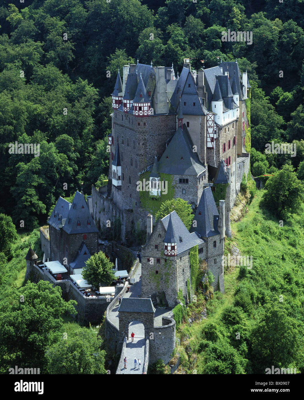 castle Eltz Germany Europe Eifel overview Middle Ages - Stock Image