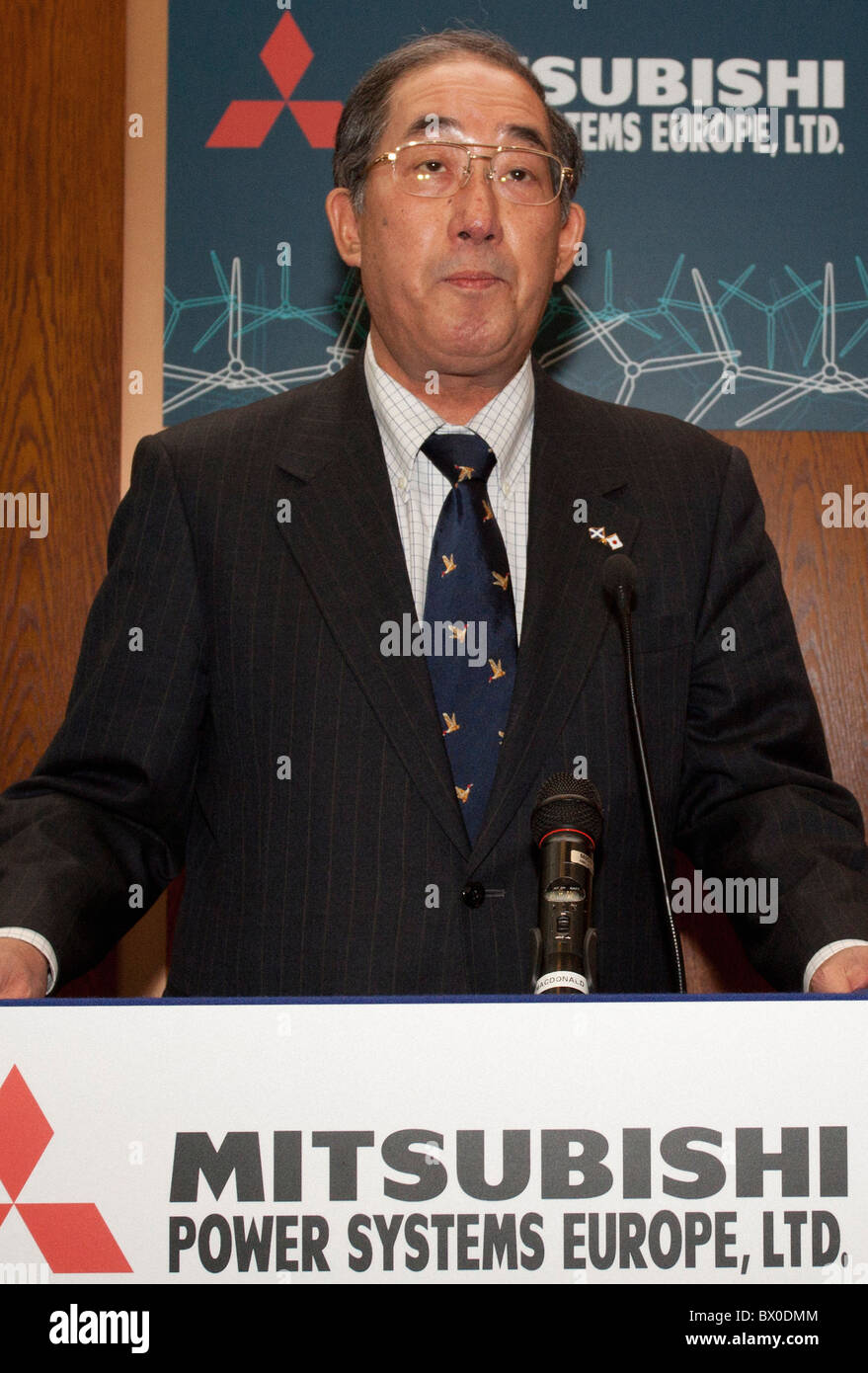 Mitsubishi Power Systems Europe, Chief Executive Officer, Akio Fukui Stock Photo