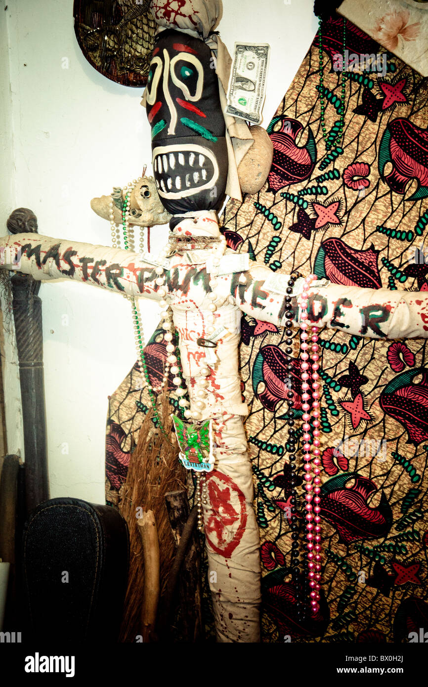 Voodoo Spiritual Temple in New Orleans, Louisiana, established in 1990 by Priestess Miriam and Priest Oswan Chamani. - Stock Image