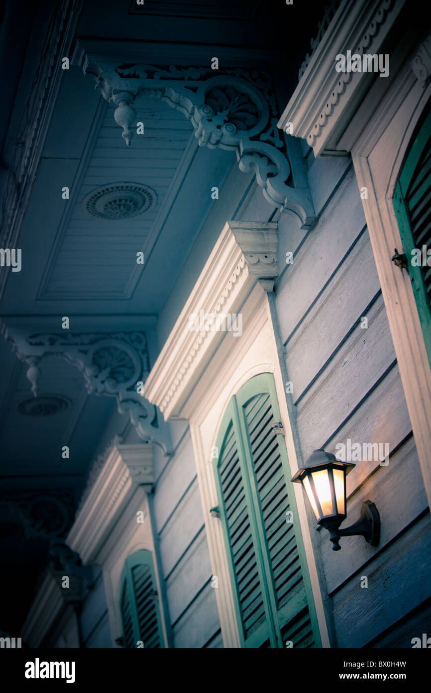 The Spanish-style architecture of the French Quarter in New