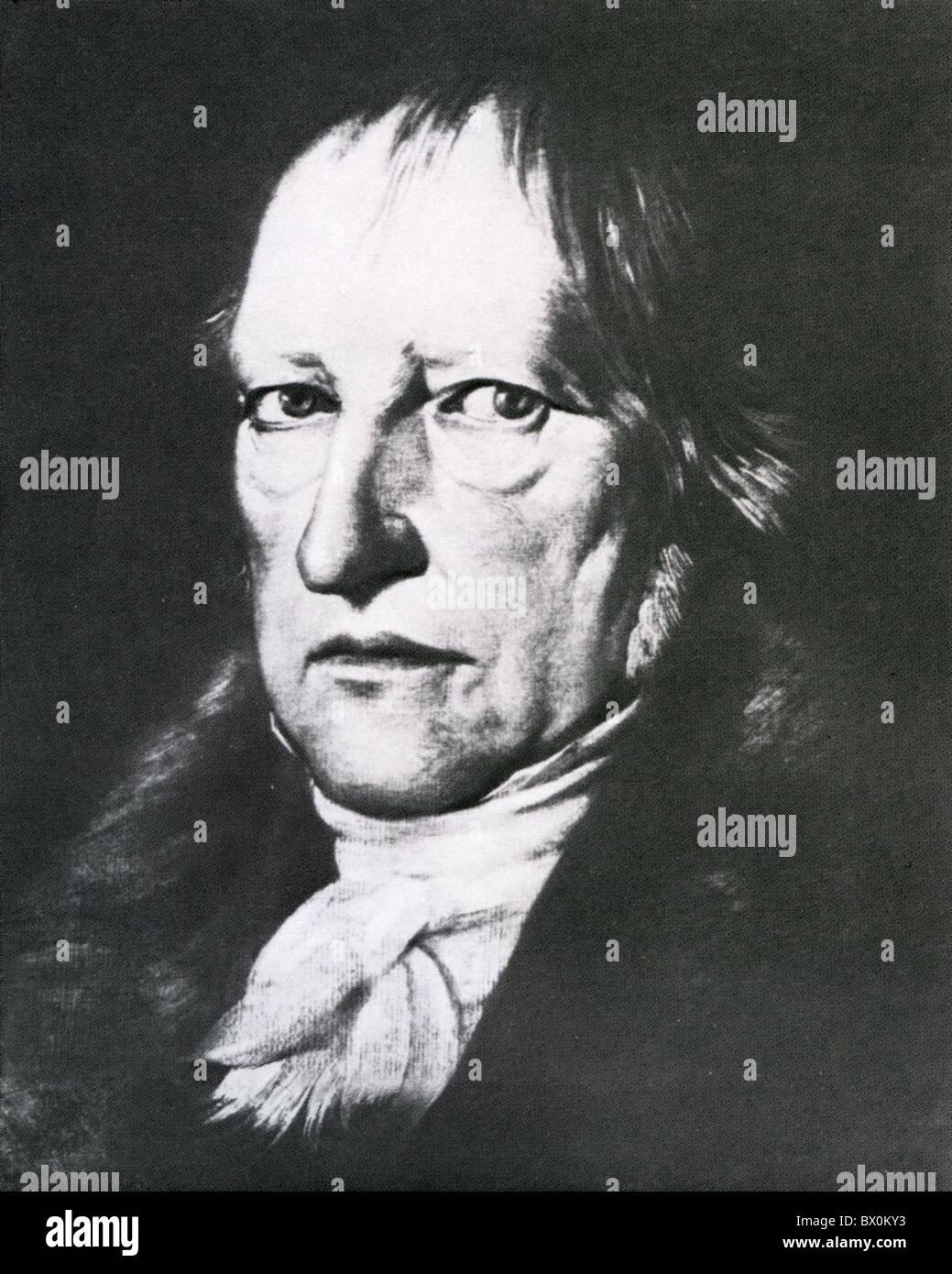 GEORG HEGEL (1770-1831) German philosopher - Stock Image