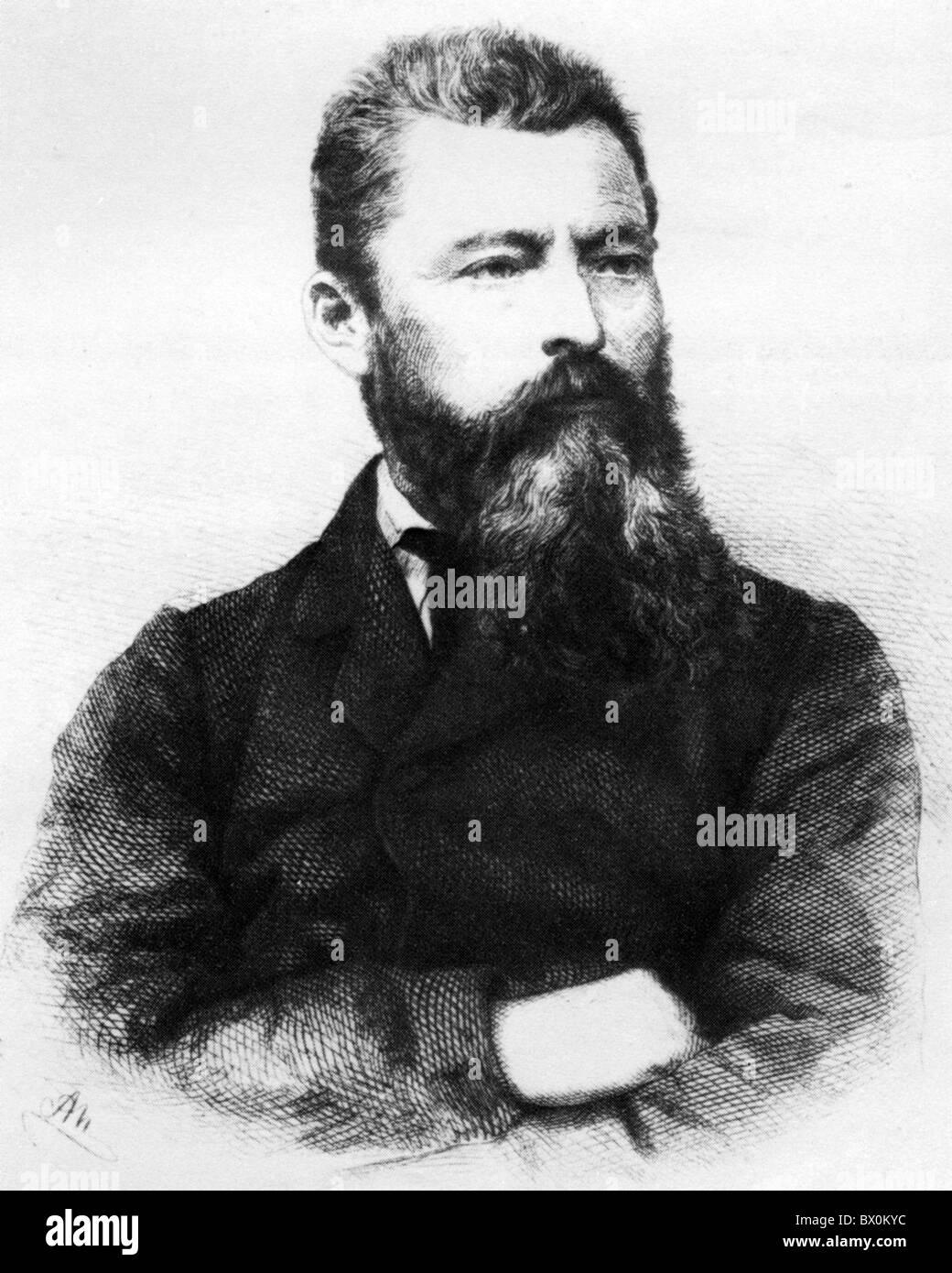 LUDWIG von FEUERBACH (1804-1872) German philospher - Stock Image