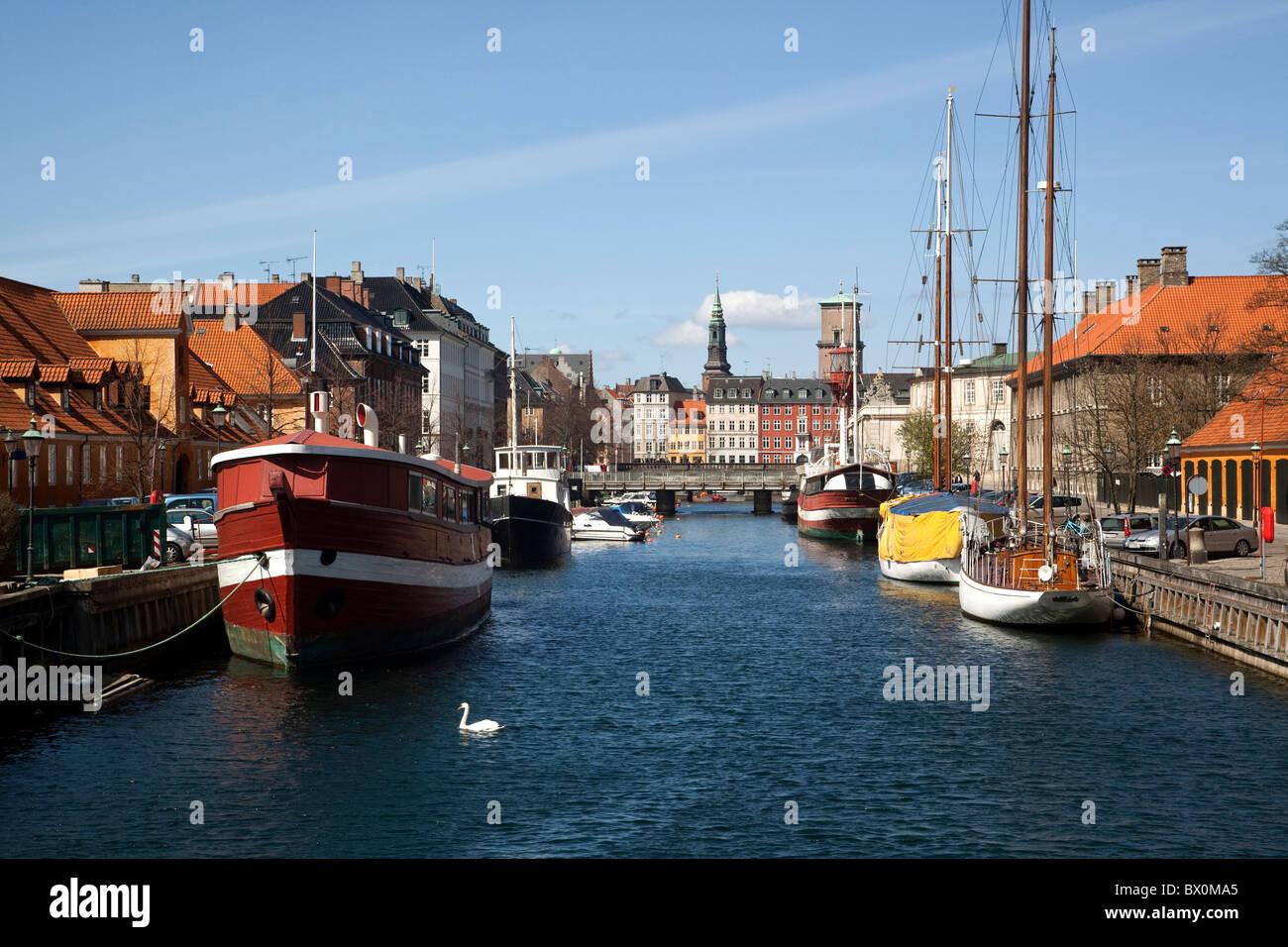 Frederiksholms Kanal. Copenhagen, Denmark. - Stock Image