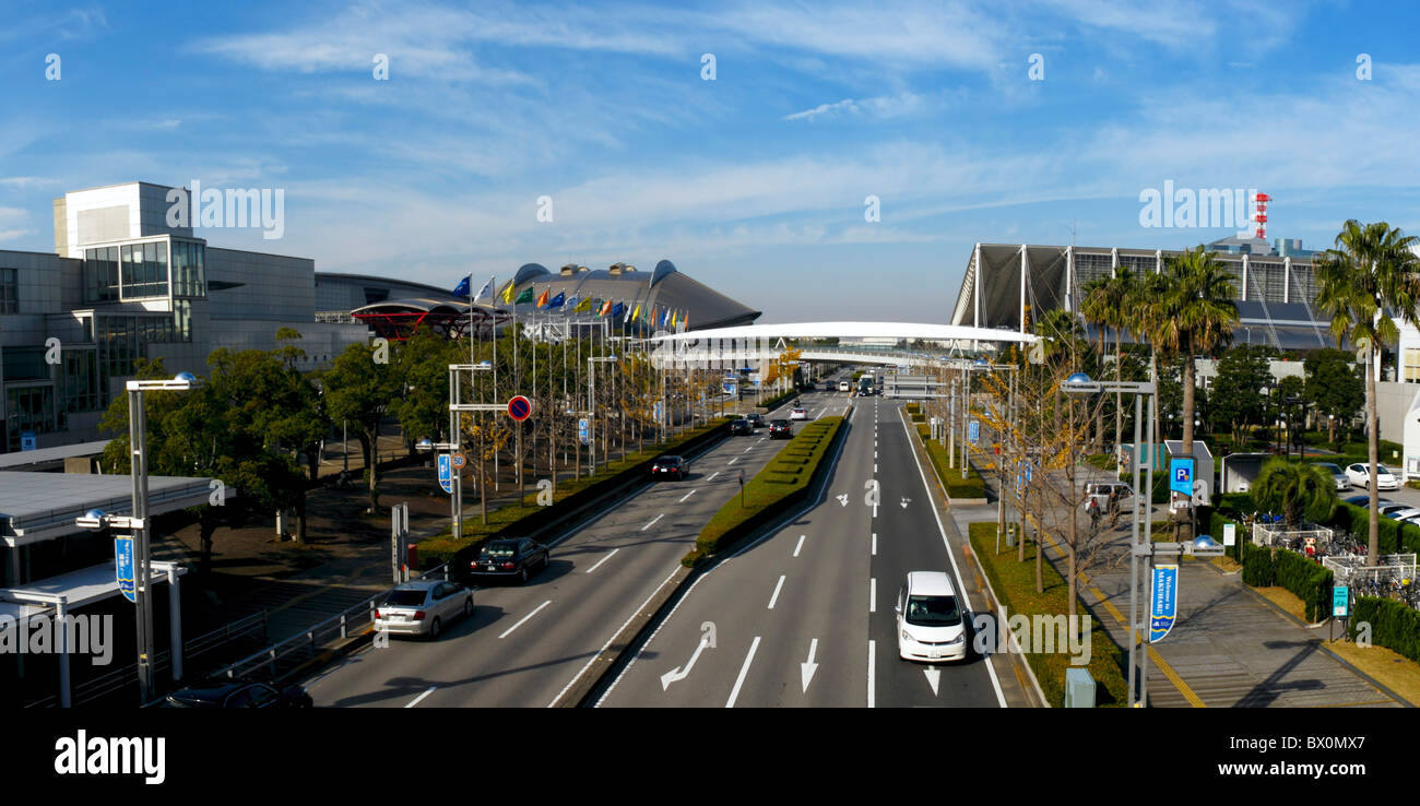 Makuhari Messe Panorama, Chiba, Japan JP - Stock Image