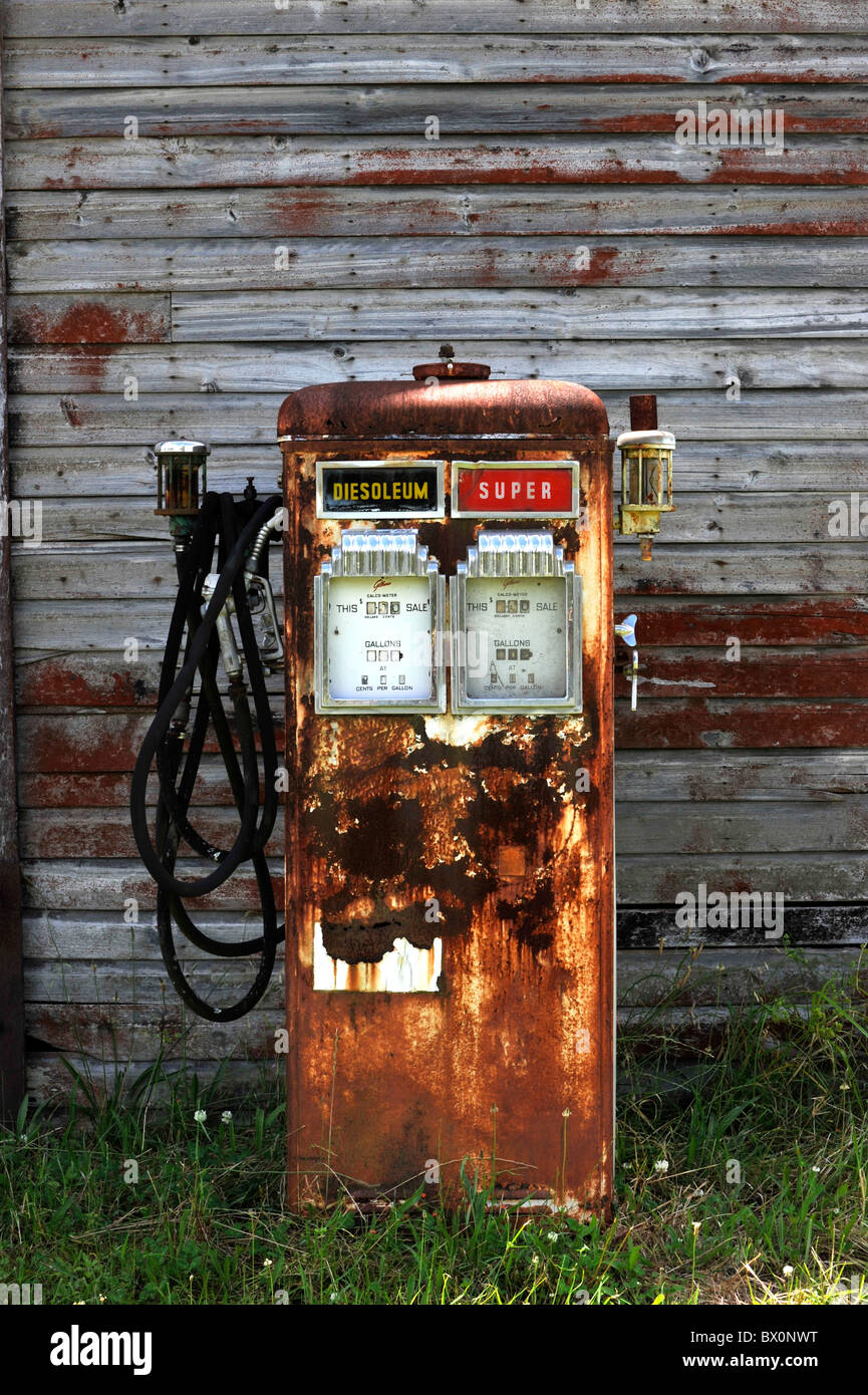 Old petrol pumps - Stock Image