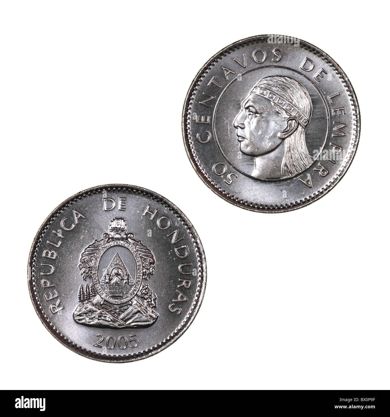 Honduras coin Stock Photo