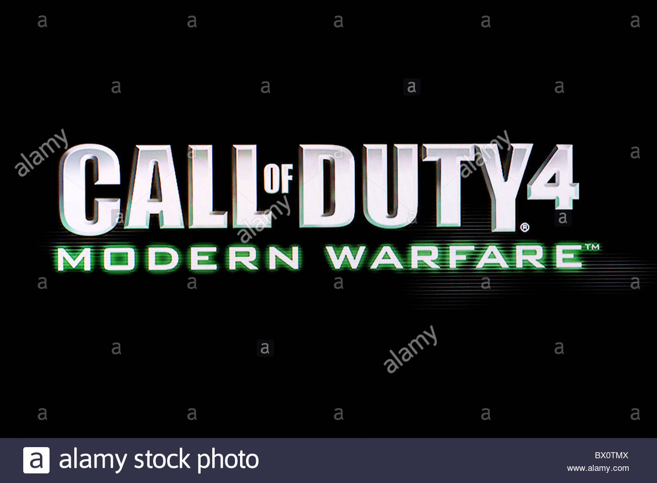 Call of Duty Modern Warfare mode title screen shot  COD4 MW