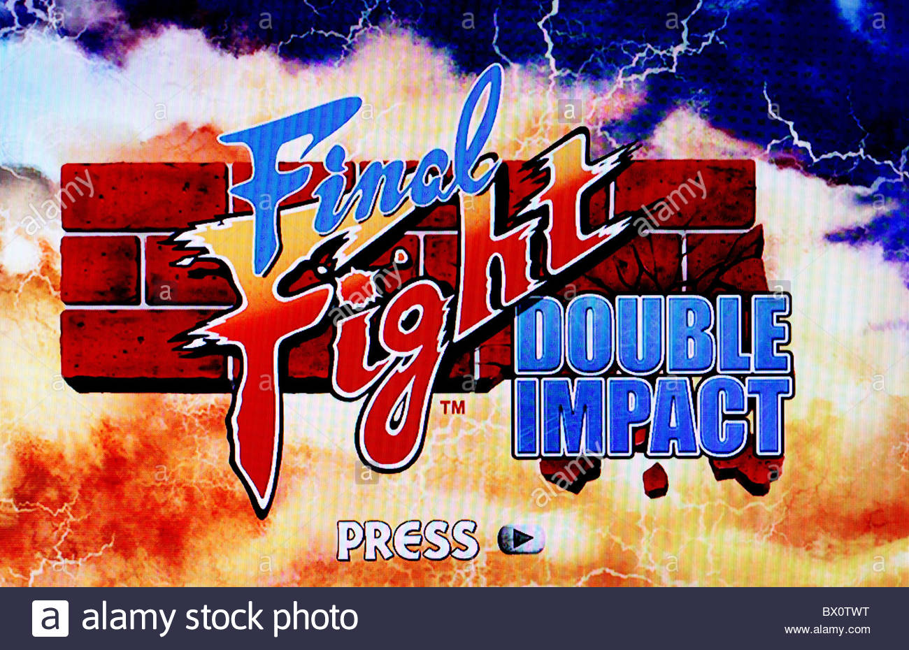 Final fight double impact title screen shot - Stock Image