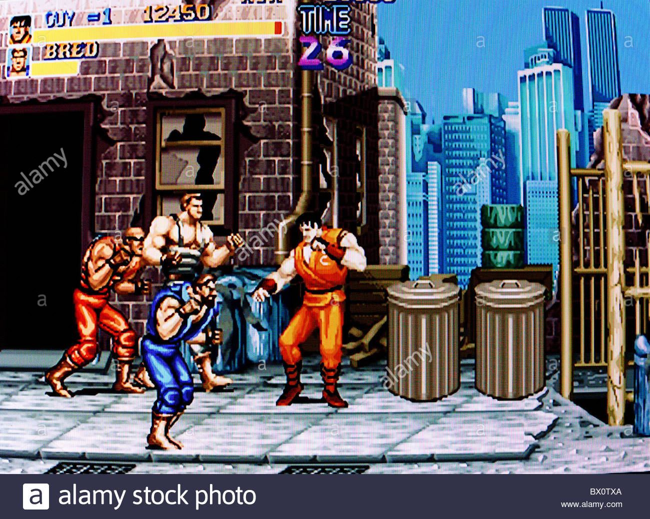 Final fight classic game screen shot - Stock Image