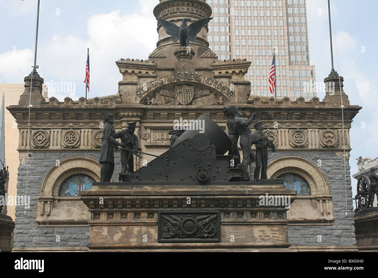 Cuyahoga County Soldiers and Sailors Monument. Cleveland, Ohio, USA. - Stock Image