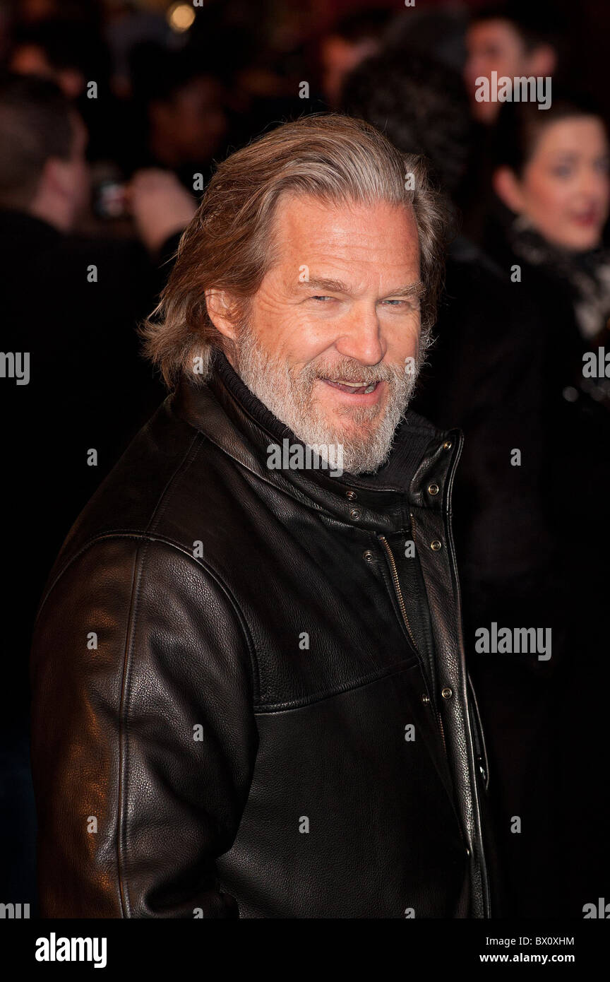Jeff Bridges attends the UK Premiere of TRON Legacy at The Empire Leicester Square, London, 5th December 2010. - Stock Image